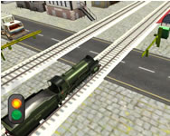 Railway train passing 3d